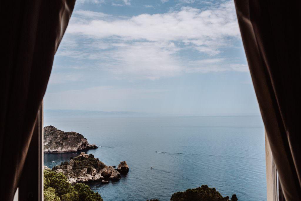 Matrimonio nella costa di Taormina, Sicilia