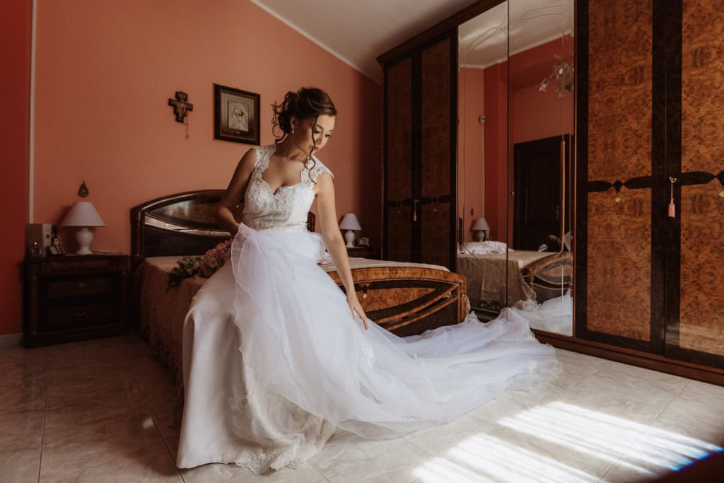 Bride Portrait of a Christian Wedding in Sicily