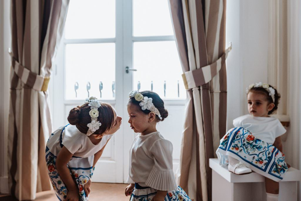 Coastal Wedding in Taormina, Sicily, getting ready, children