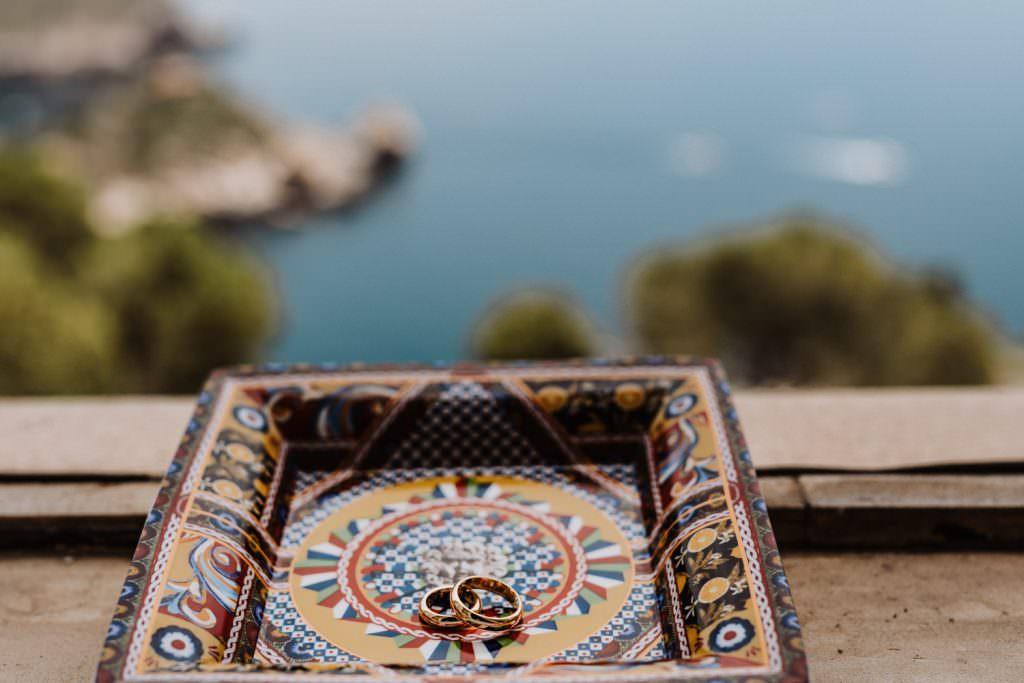 Anelli in Matrimonio nella costa di Taormina, Sicilia