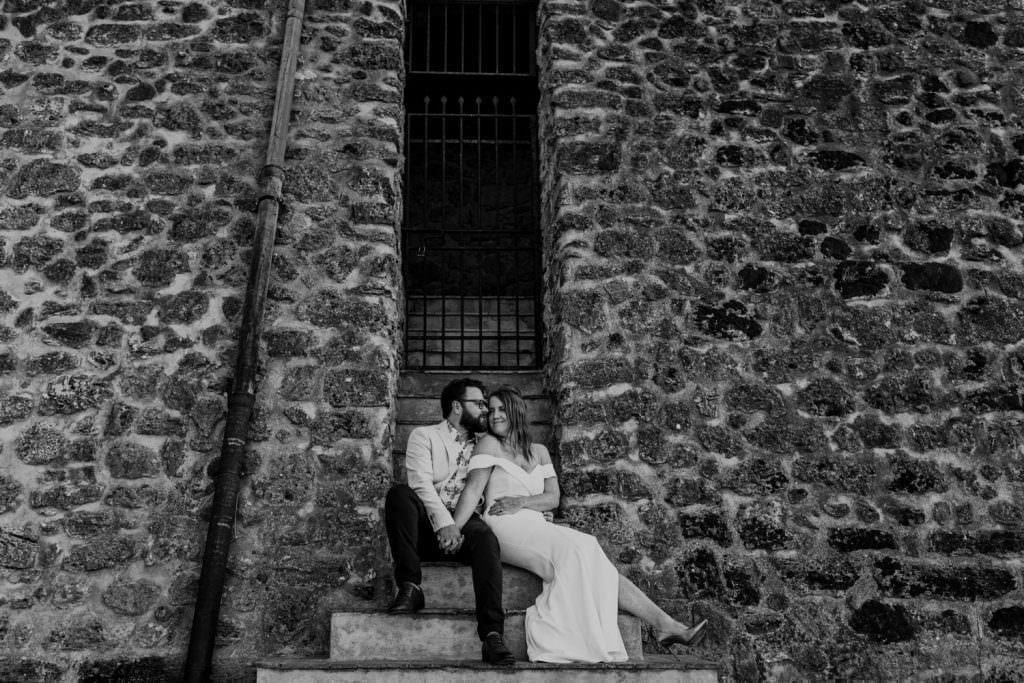 honeymoon photography elegant portrait in Sicily black and white