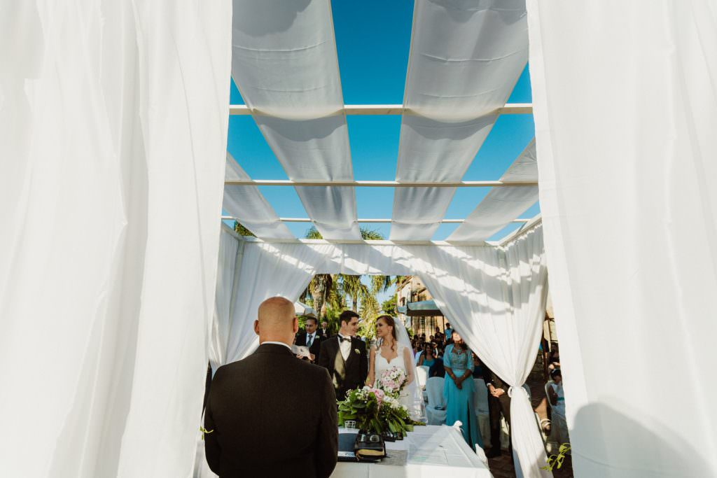 Emotional Ceremony of a Christian Wedding in Sicily