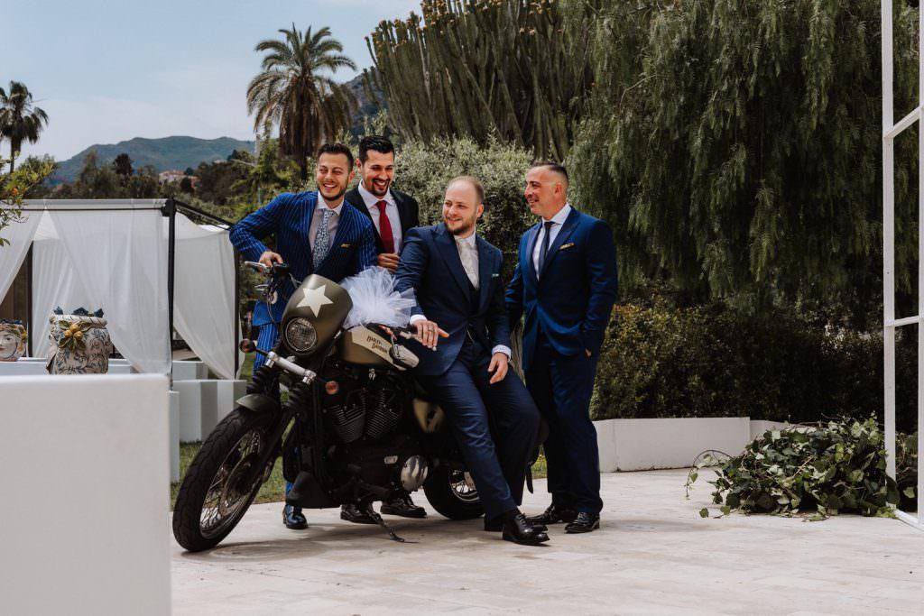 Coastal Wedding in Taormina, Sicily, friends