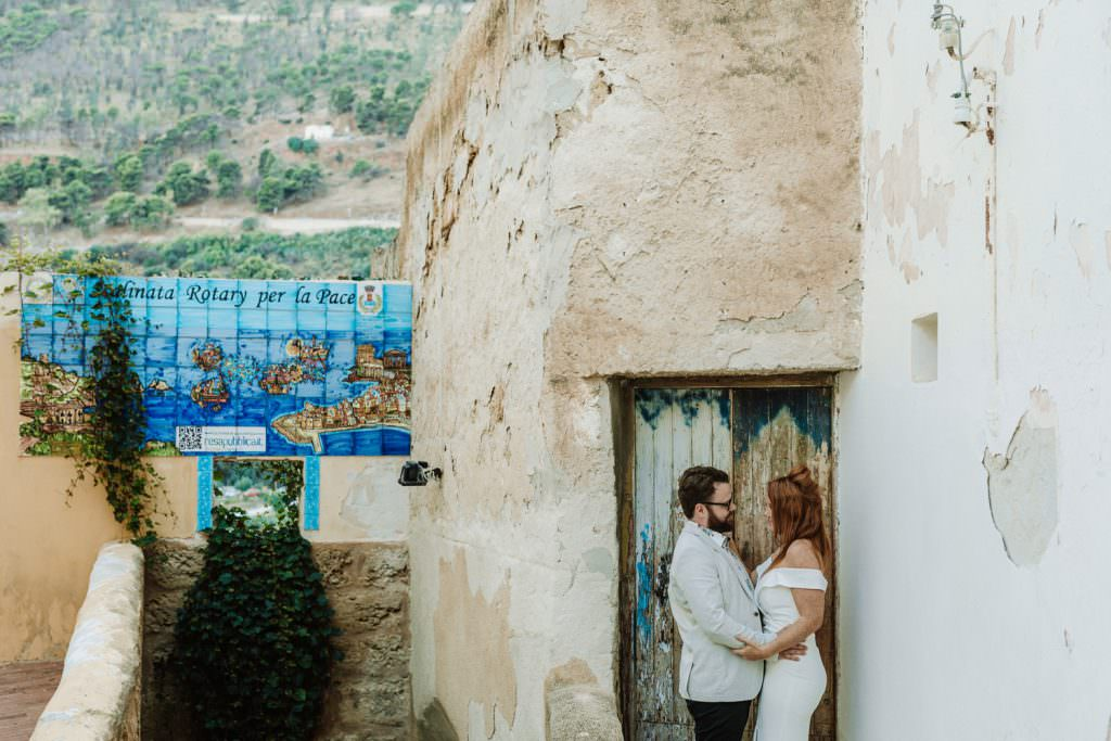 honeymoon photography elegant portrait in Sicily