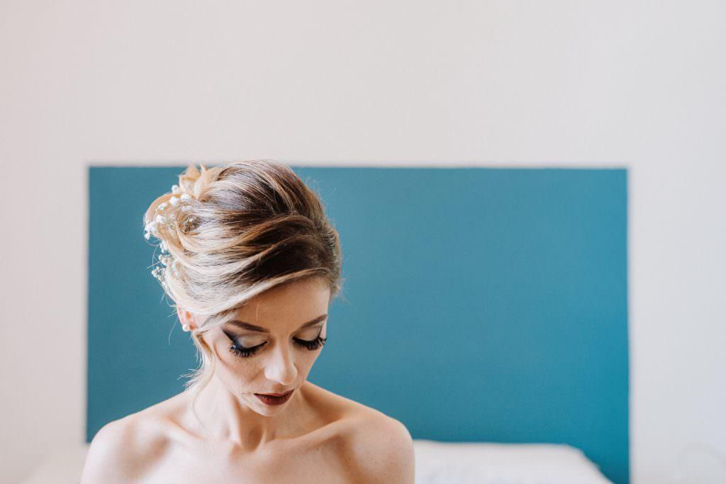 Ritratto sposa di un matrimonio elegante a Palermo