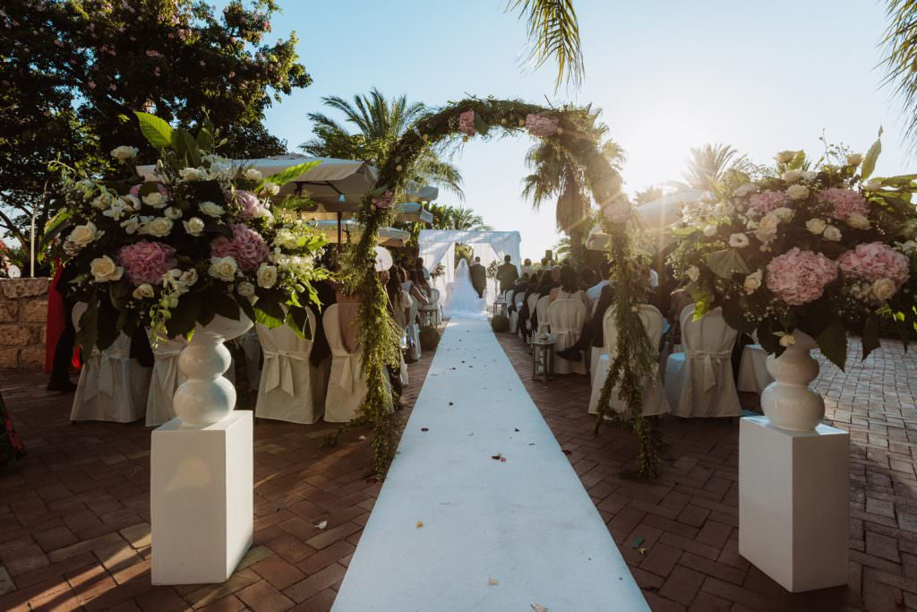 Ceremony of a Christian Wedding in Sicily