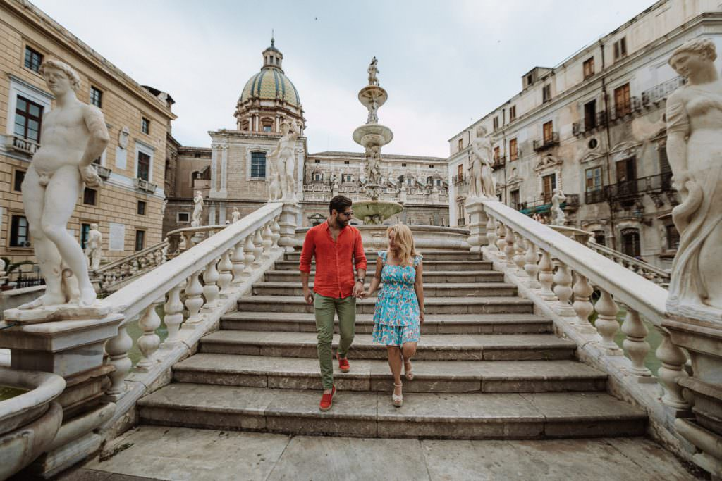 Ritratto di Coppia in Engagement in Palermo, Sicily