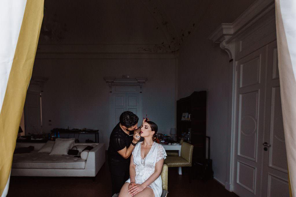 Coastal Wedding in Taormina, Sicily, getting ready, make-up