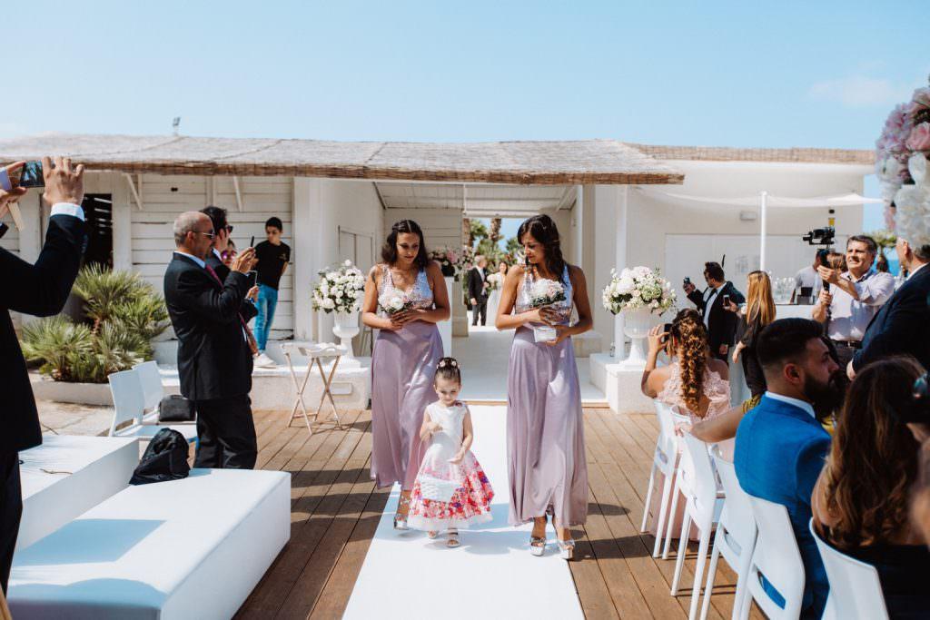 Seaside Wedding in Sicily baia del corallo bridesmaids