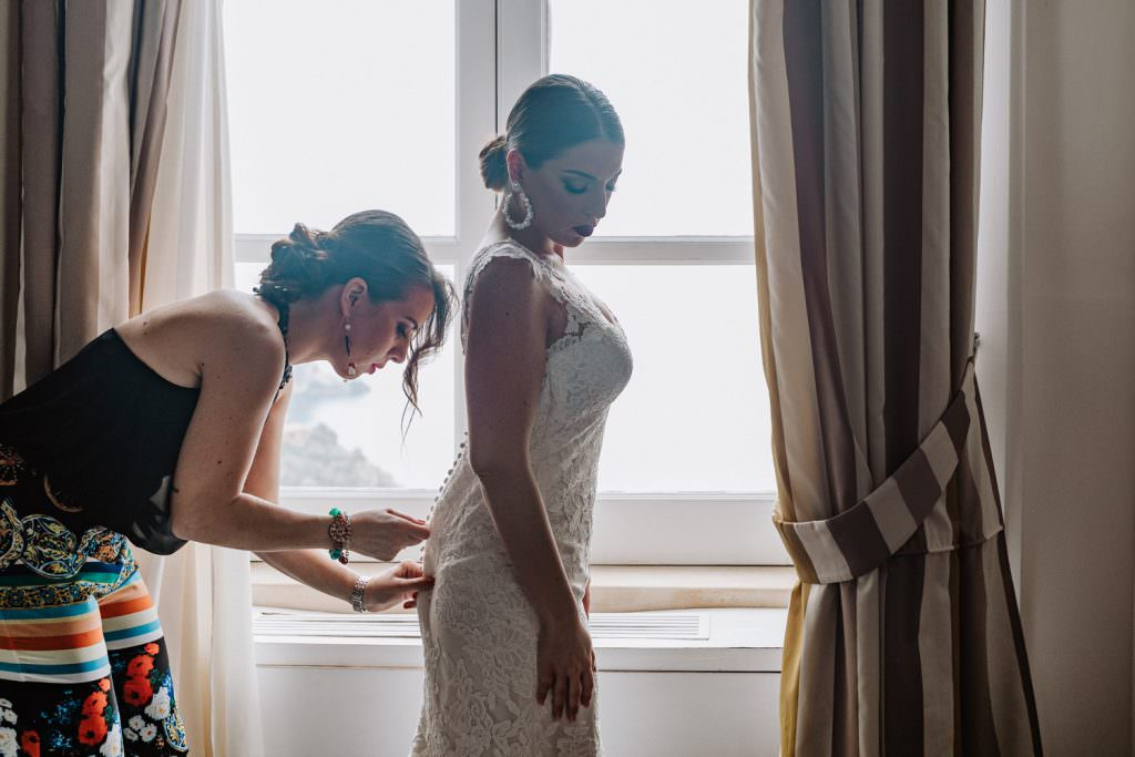 Candid Wedding Photography in Taormina, Sicily, getting ready