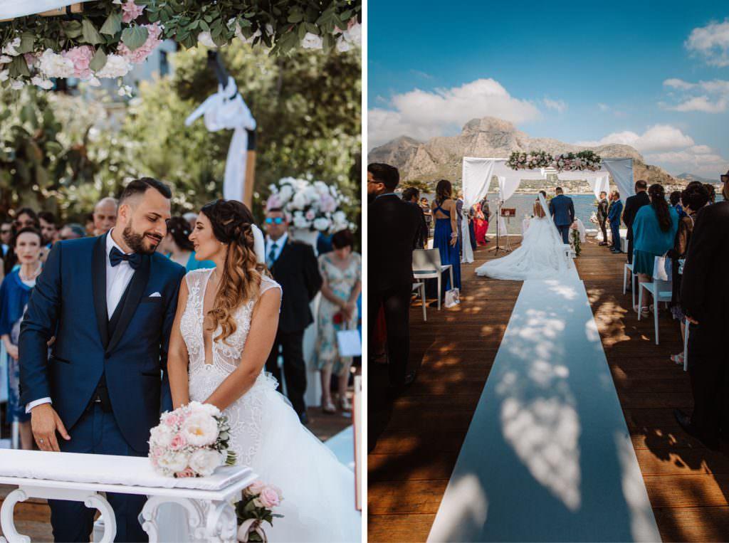 Seaside Wedding in Sicily baia del corallo ceremony