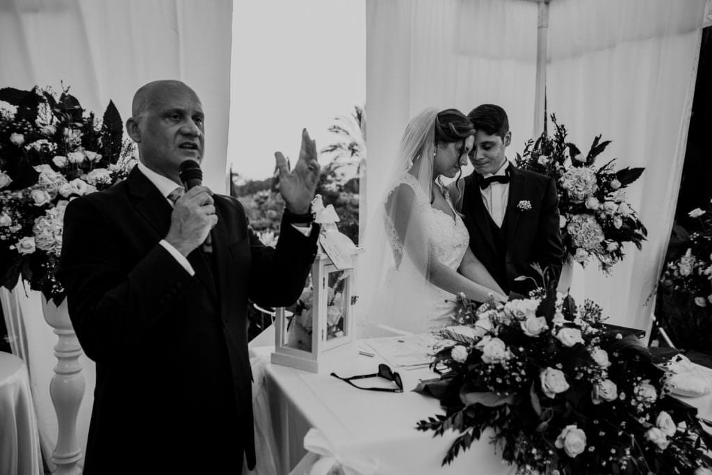 Prayer in Ceremony of a Christian Wedding in Sicily
