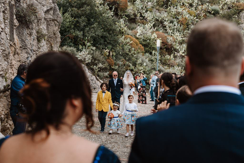 Candid Wedding Photography in Taormina, Sicily, meet in church