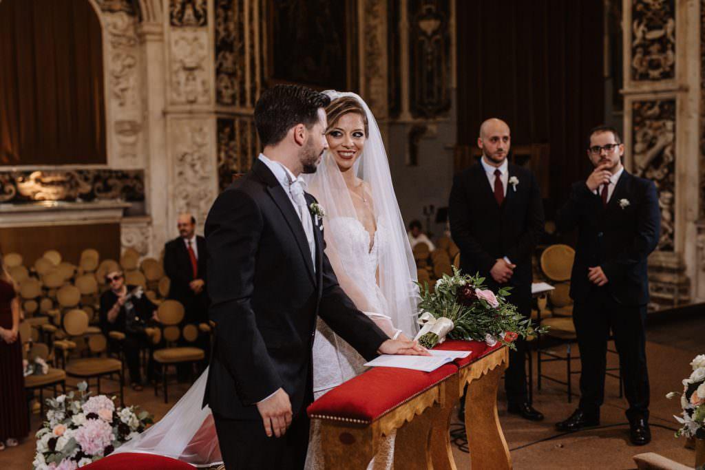 Cerimonia di un matrimonio elegante a Palermo