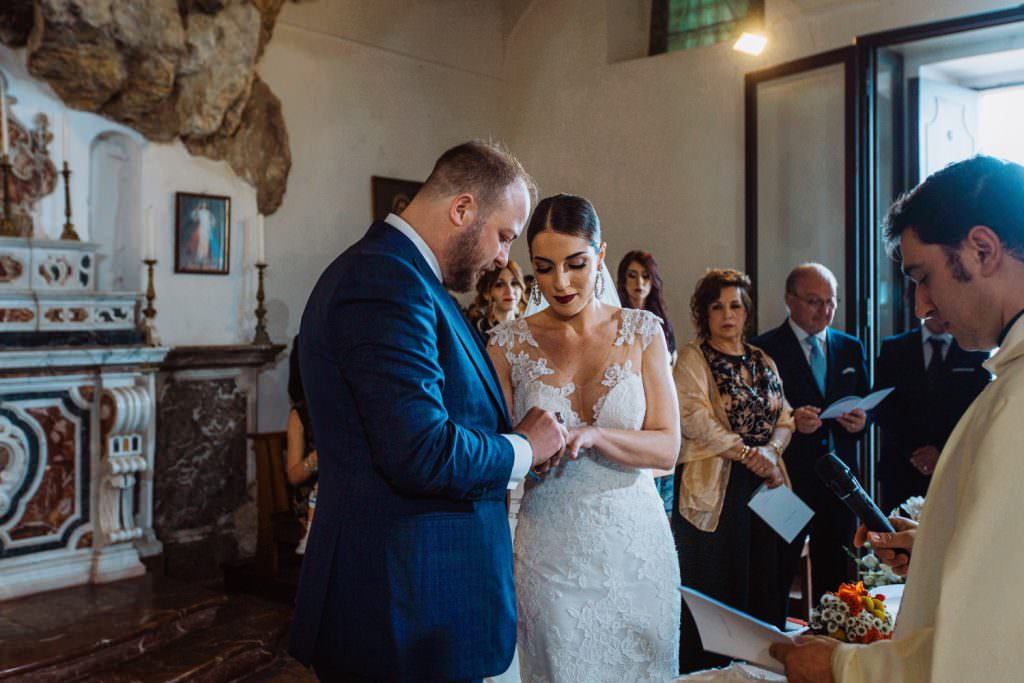 Candid Wedding Photography in Taormina, Sicily, celebration into church