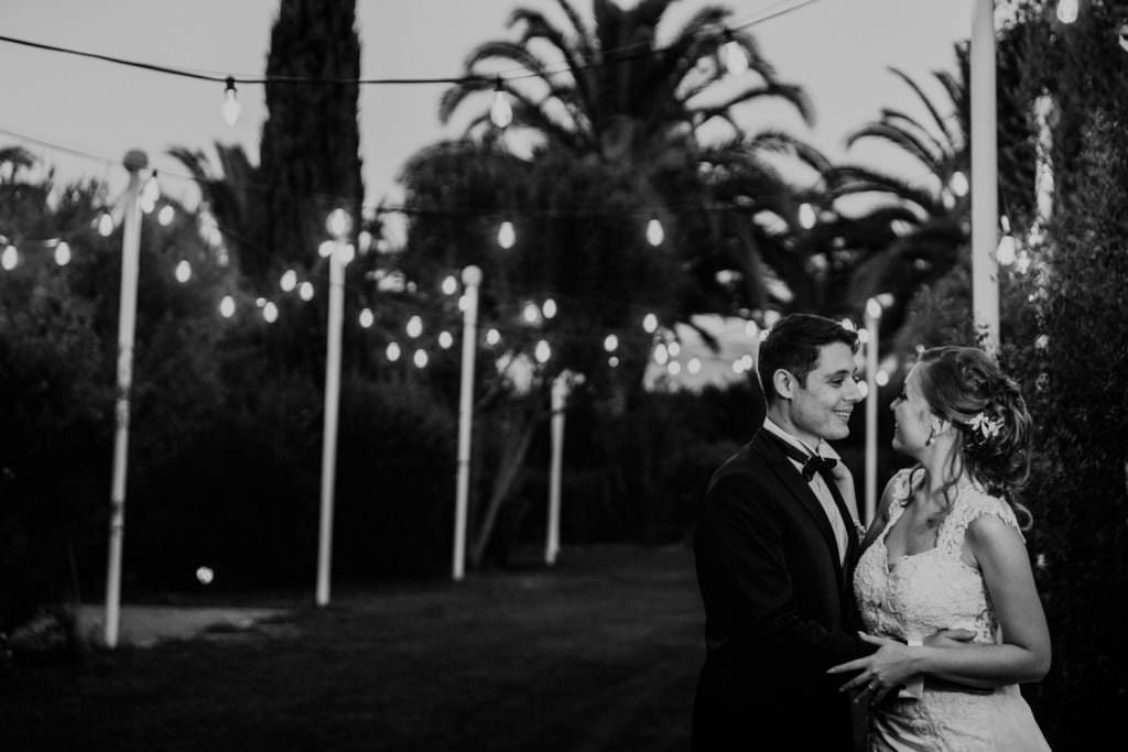 Emotional Christian Wedding in Sicily Black and White Couple Portrait