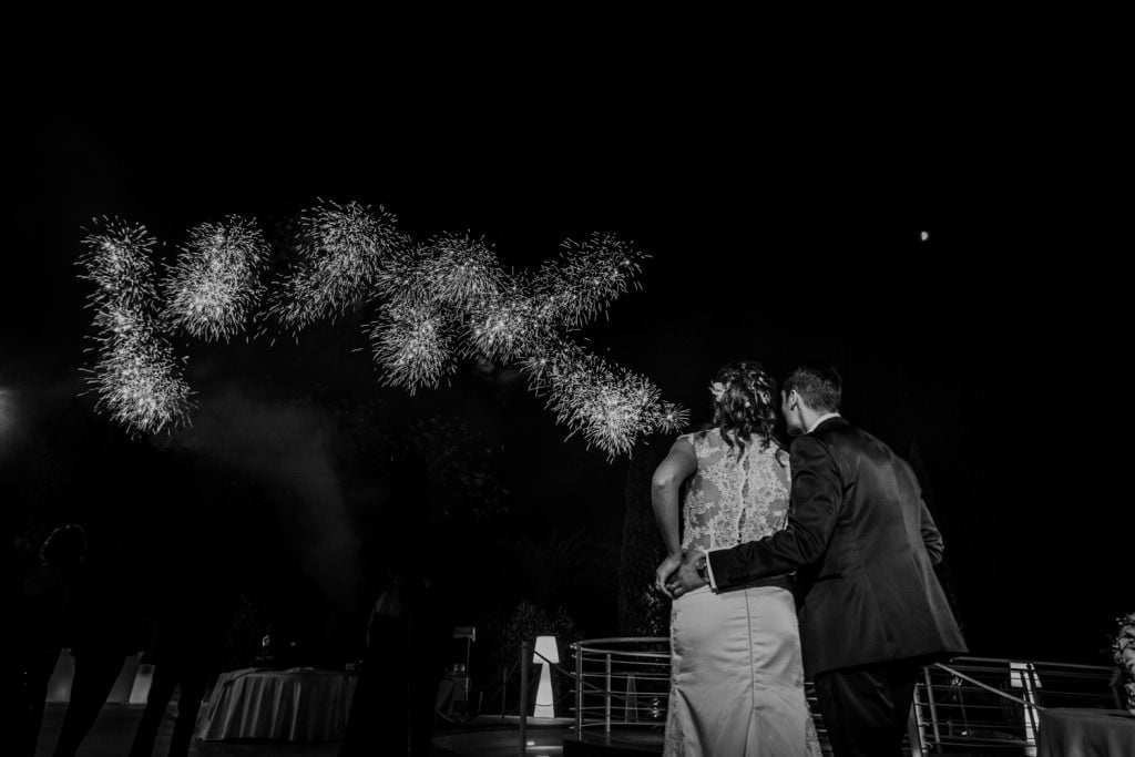 Fireworks in  a Christian Wedding in Sicily