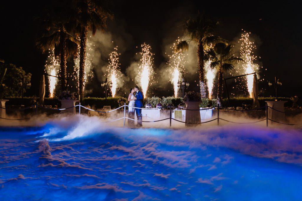 Seaside Wedding in Sicily baia del corallo party fireworks