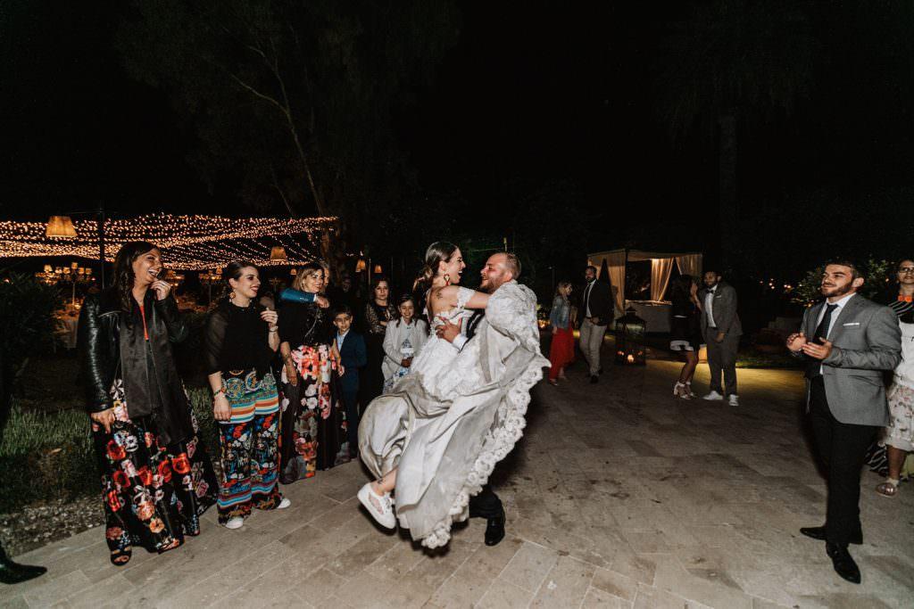 Coastal Wedding in Taormina, Sicily, dance wedding party