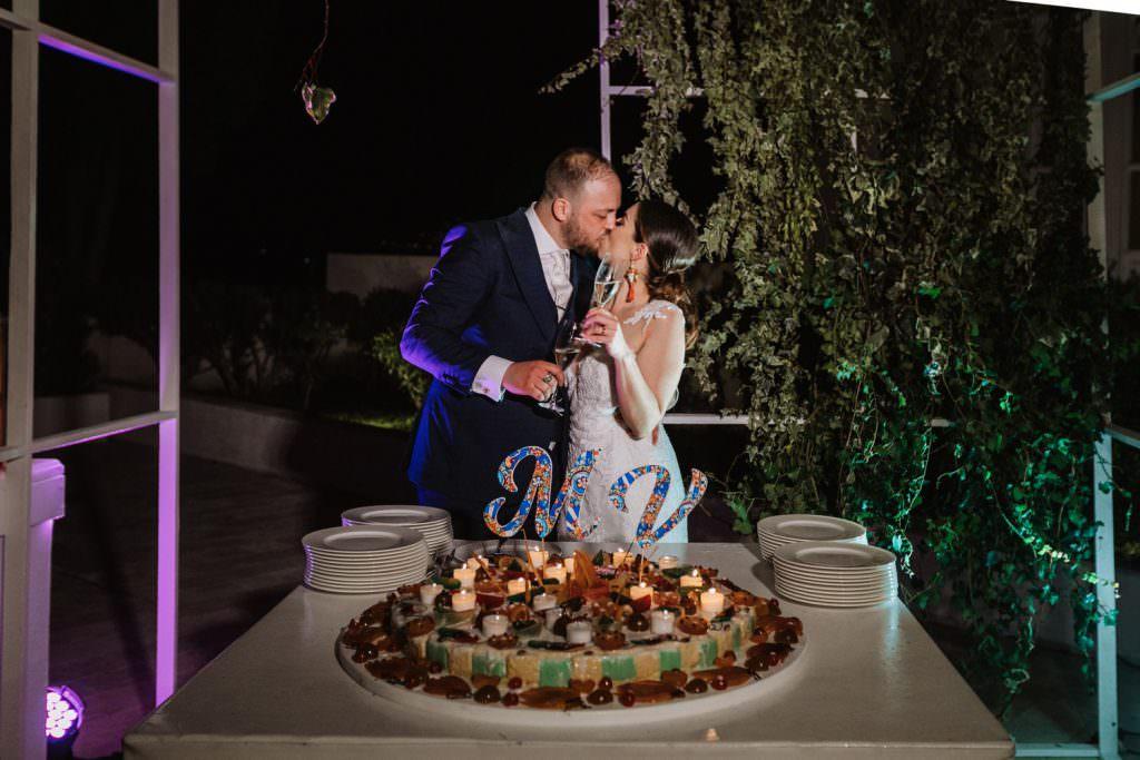 Torta sposi in Matrimonio nella costa di Taormina, Sicilia