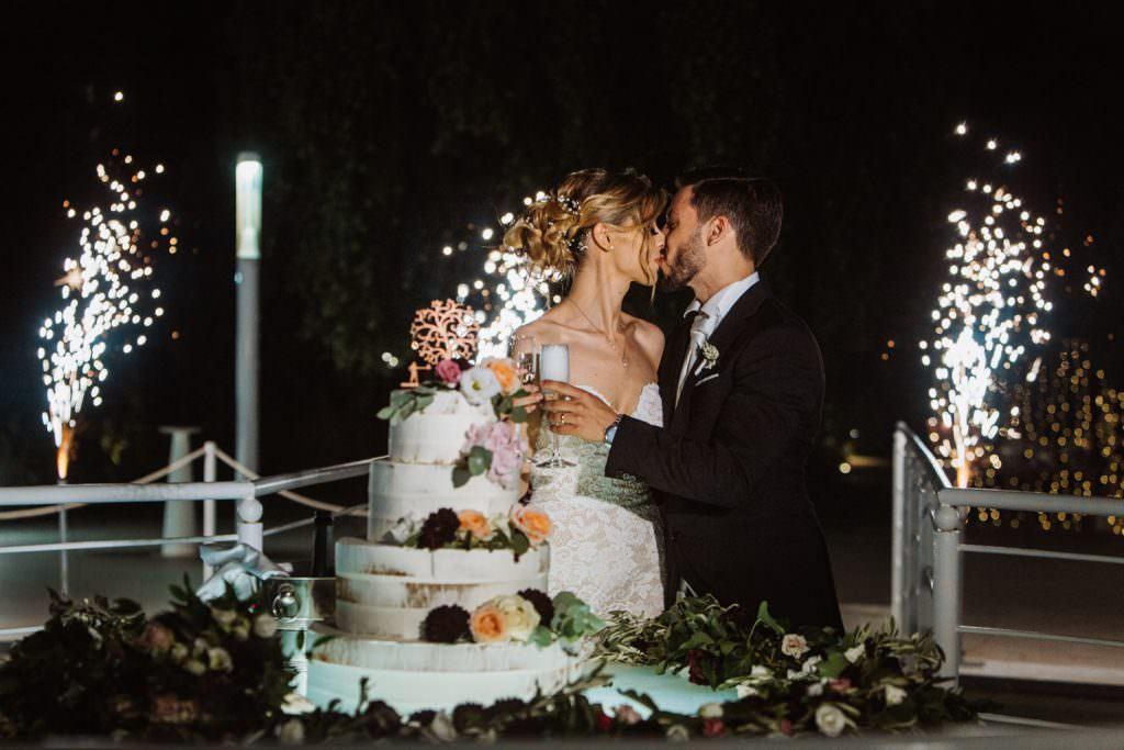 Torta nuziale, matrimonio elegante a Palermo, Baglio della Luna
