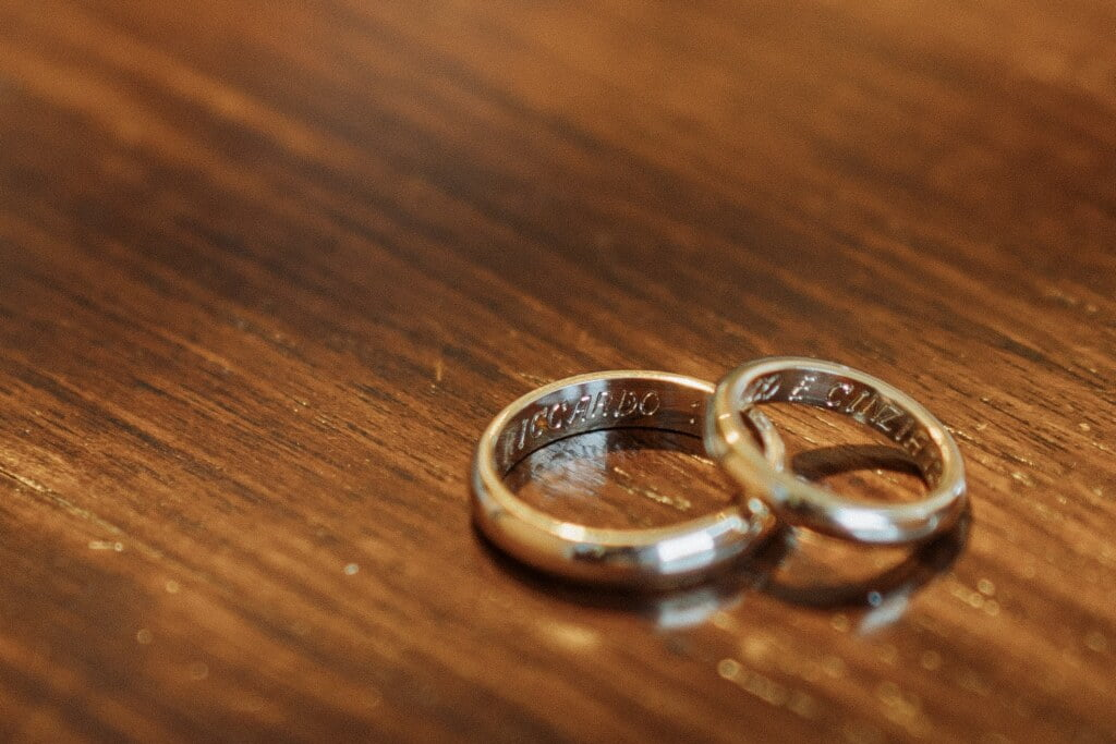 Rings in Evangelical Christian Wedding