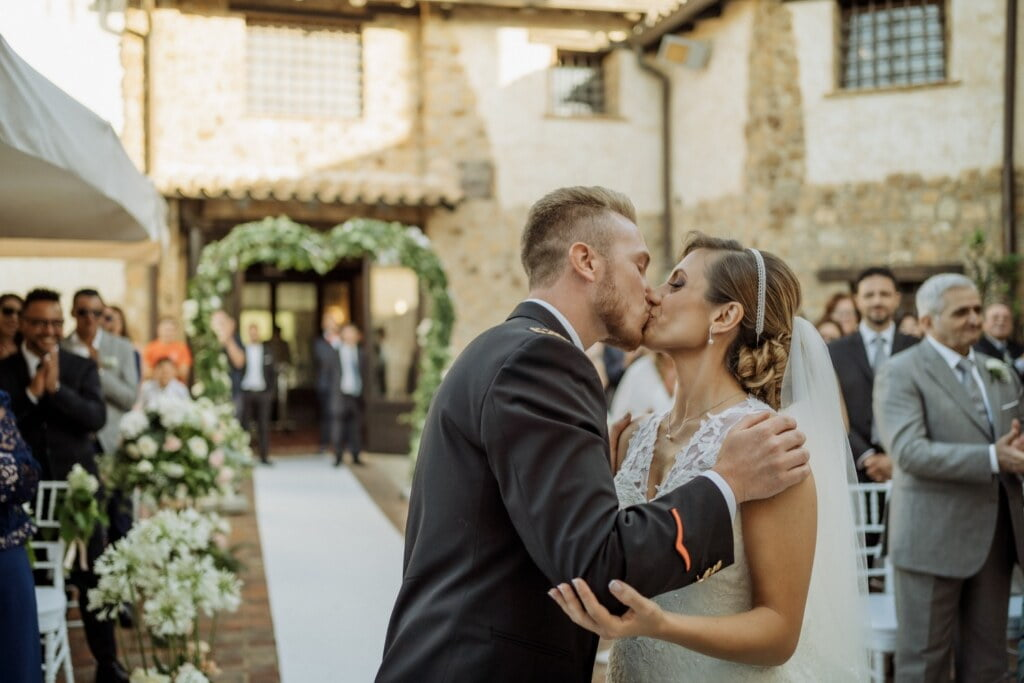 Kiss in Evangelical Christian Wedding
