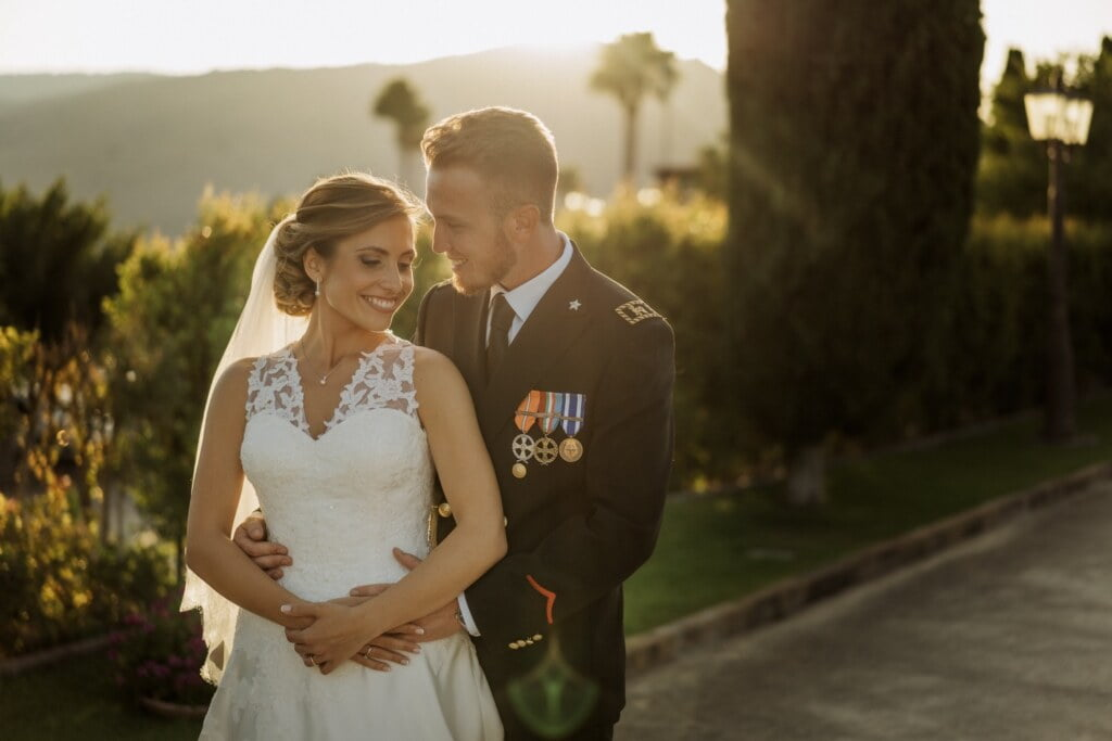Couple portrait  in Evangelical Christian Wedding
