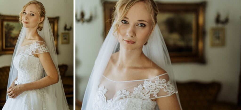 Bride portrait in elegant destination wedding in Sicily