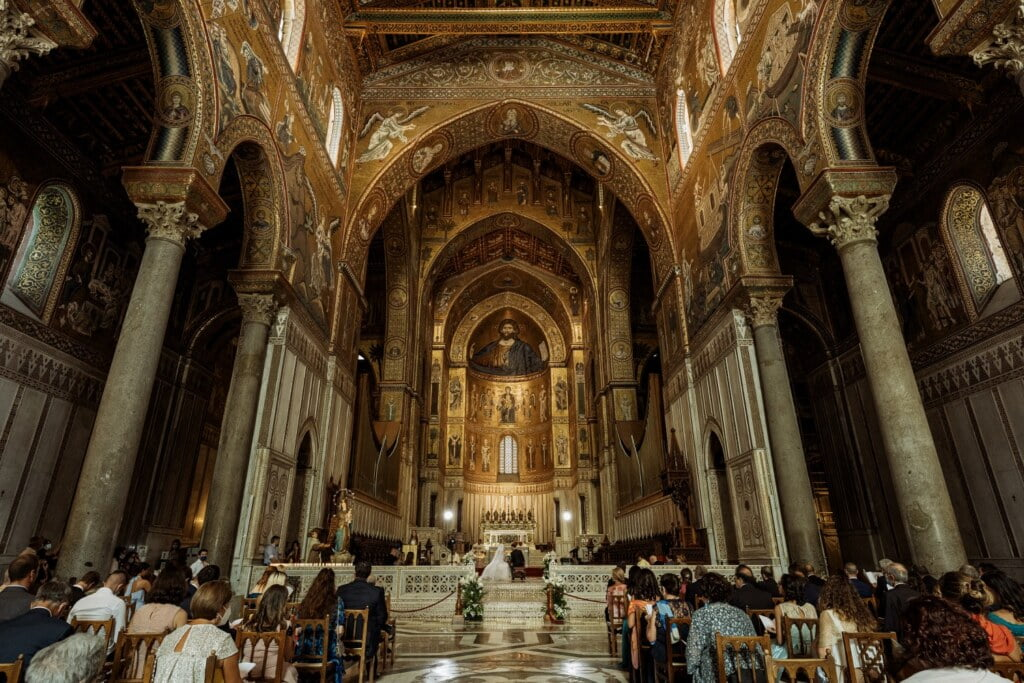 Cathedral of Monreale in elegant destination wedding in Sicily