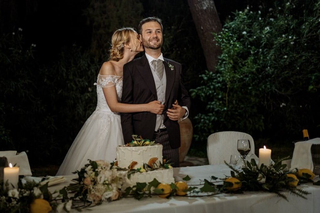 Cake in elegant destination wedding in Sicily