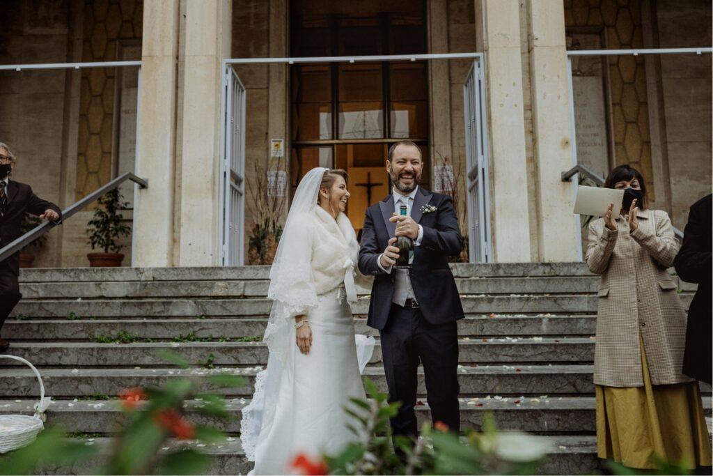 toast between bride and groom