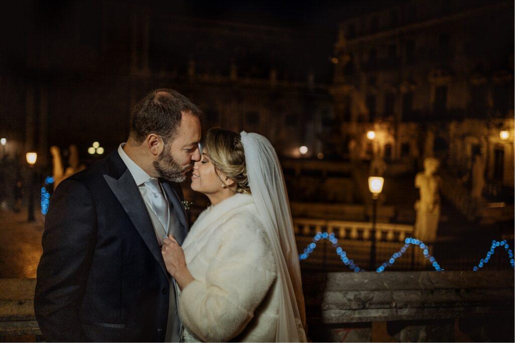 portrait bride and groom