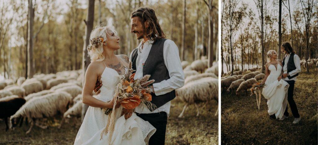 bride and groom wedding lake sicily Italy
